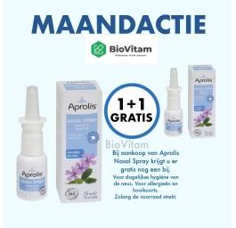 Maand actie Aprolis Propolis  Neusspray  1+1 GRATIS met 5 BIO plantenextracten